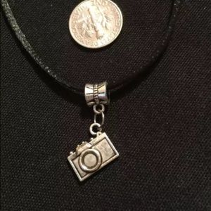 "Silver tone ""Camera "" necklace"